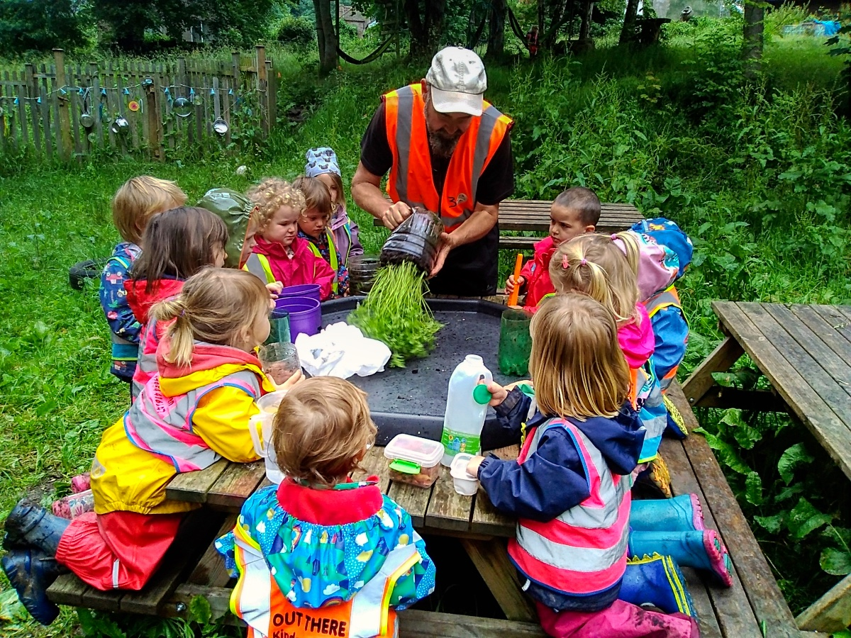 Nature-based free play and outdoor learning -