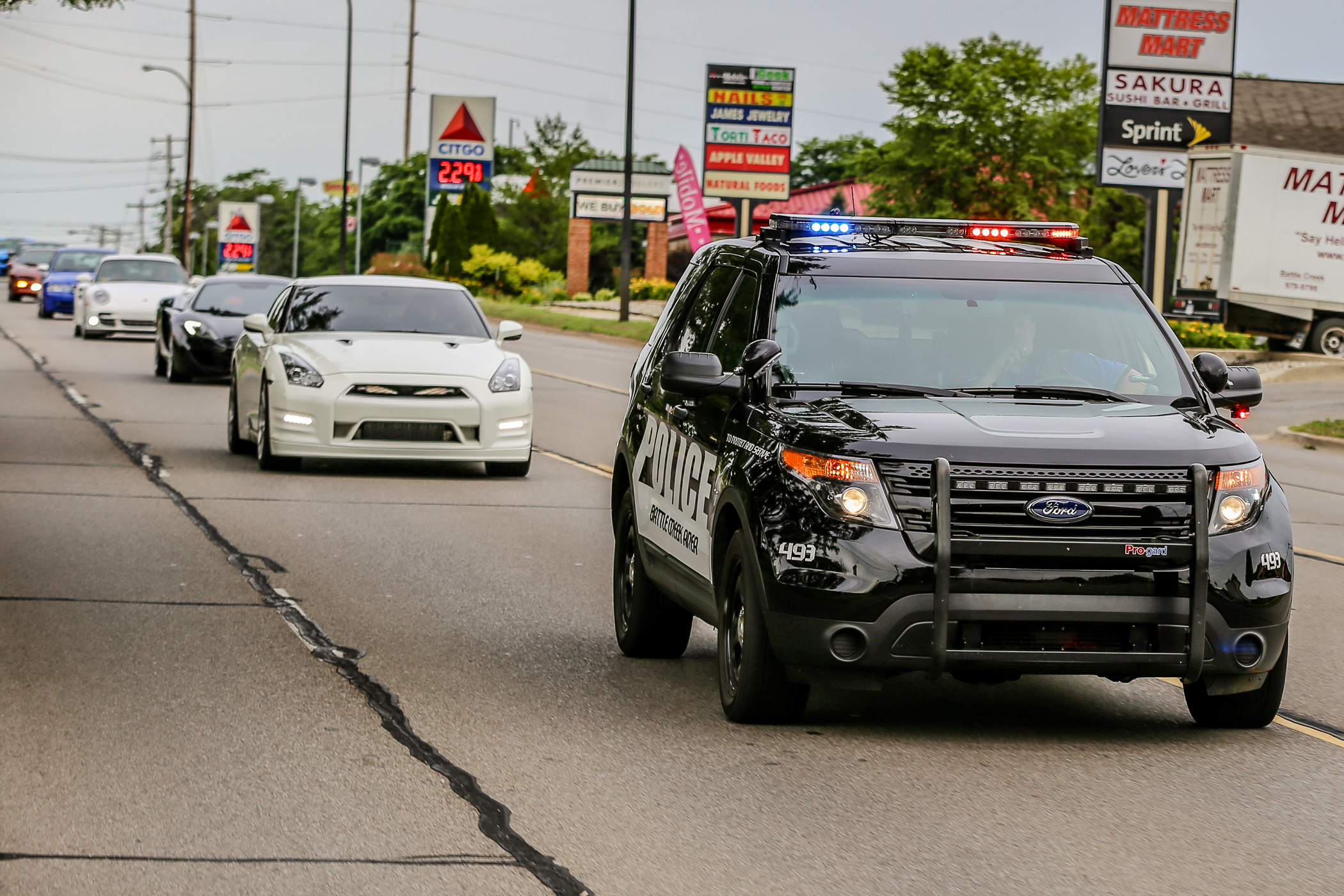 Battle Creek Police Department Escort  Please be polite and obey their instructions. They are on our side and supports us 100% from day 1.