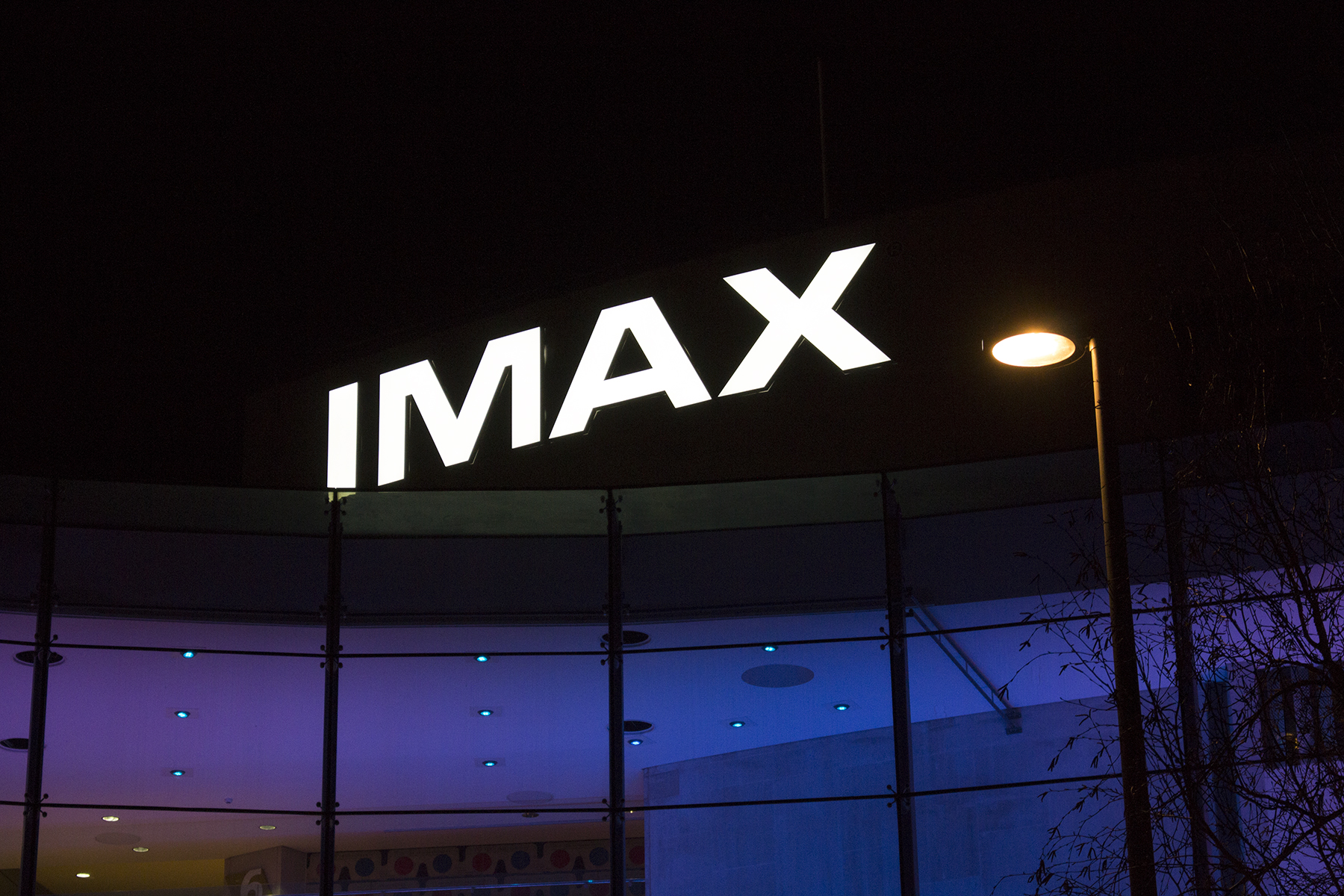 At 1.8 meters tall the IMAX letters are as tall as a person!