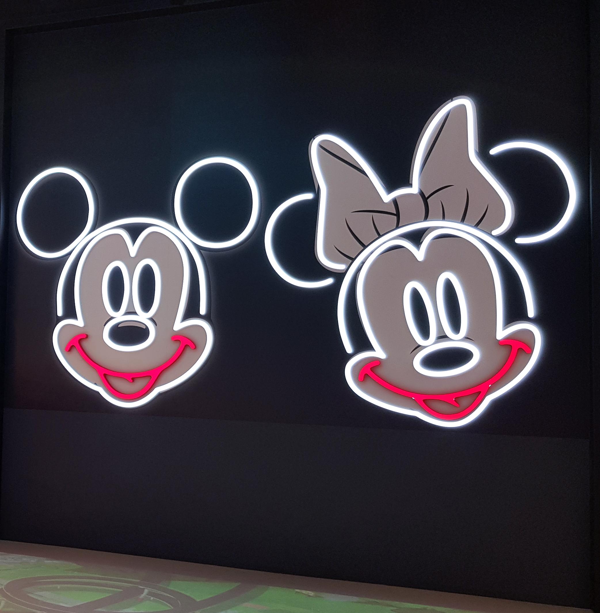 LED illuminated disney features