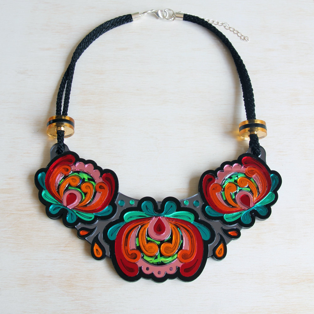 A WHOLE LOTTA ROSA - Today I'm sharing the beautiful, handcrafted resin and lasercut jewellery designed by Rosa Pietsch. Get your wallet out...