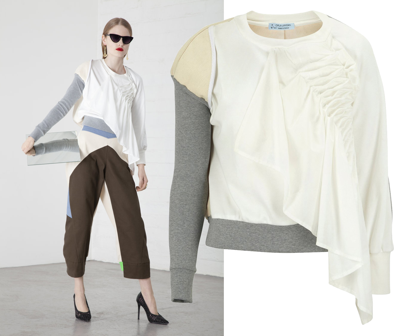 Ruched+cotton+top+and+denim+engineered+trousers+copy.jpg