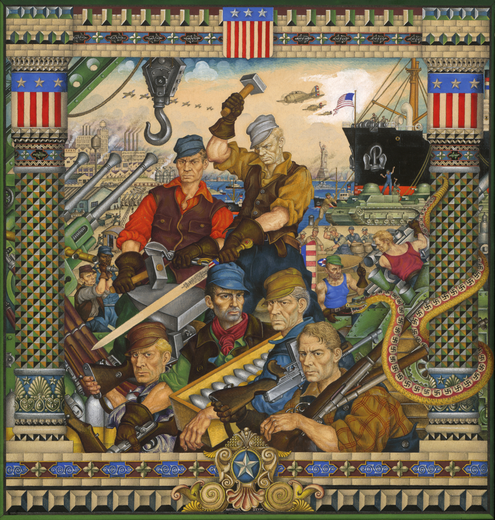 Arthur Szyk. Arsenal of Democracy. New York, 1942. Property of a Private Collector