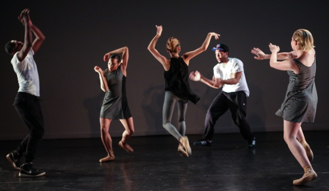 """The Brooklyn Ballet in """"At The Intersection."""" (Photo by Julie Lemberger) BROOKLYN BALLET"""