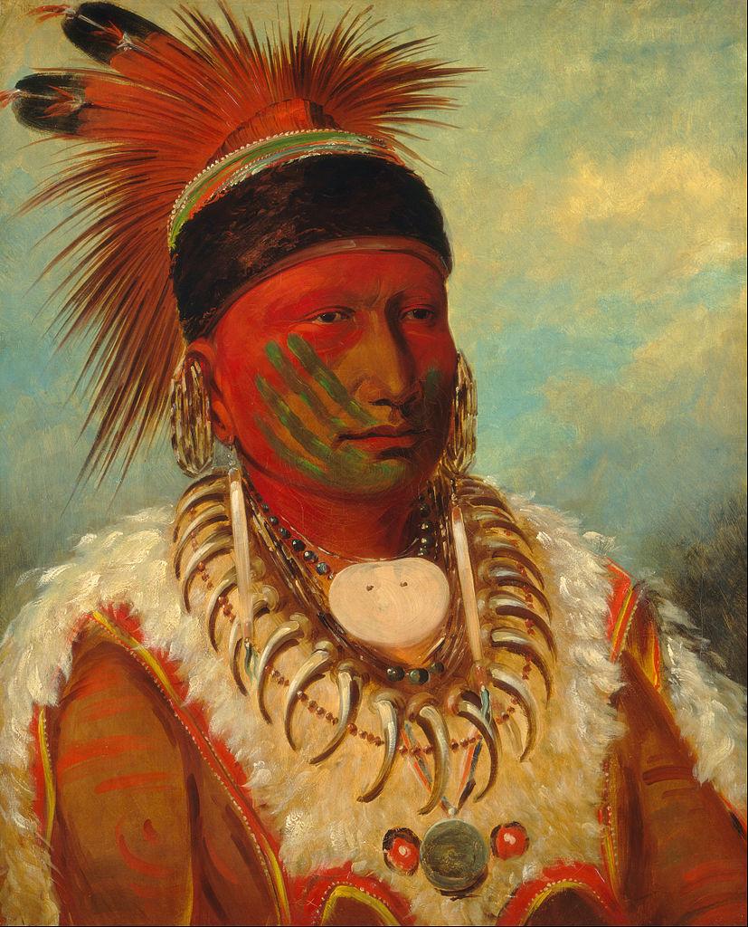 White Cloud, Head Chief of the Iowas, George Catlin [Public domain] via Wikimedia Commons