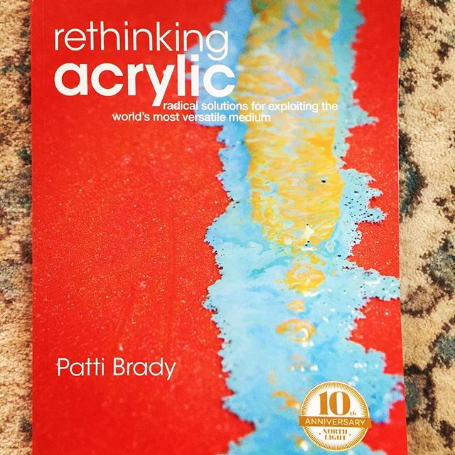 A BIG 10 year Anniversary for my book and labor of love,  Rethinking Acrylic!!! Just re-published in soft cover!! Only ten years??? #goldenartistcolors #author  #fandwmedia