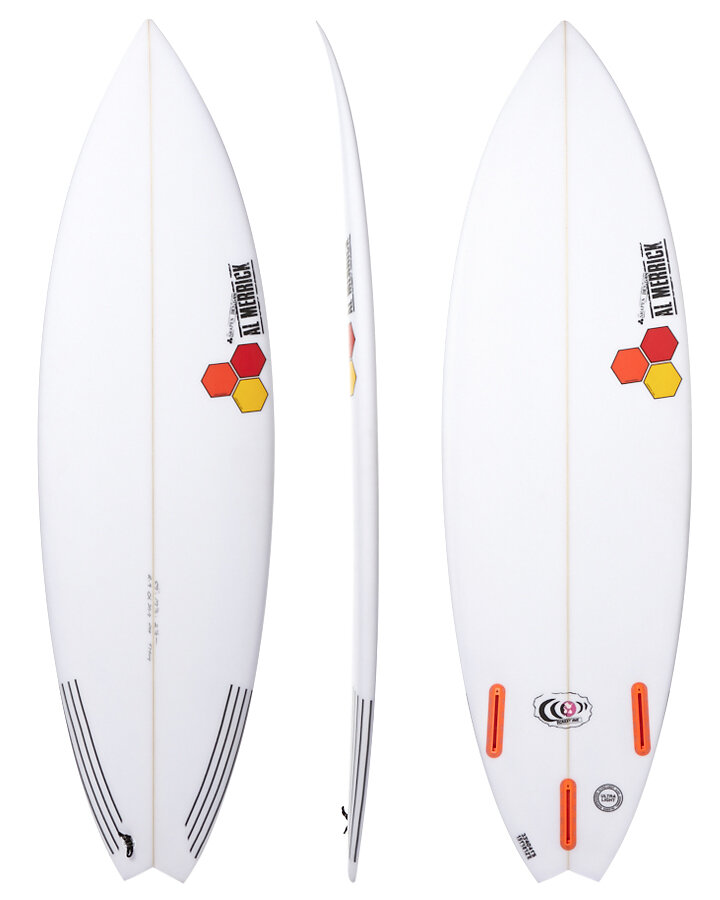 """Channel Islands """"Rocket 9"""" - RETAIL PRICE: $669YOU PAY: $499The Channel Islands Rocket 9 is currently available in the following sizes and fin setups.5'8 x 19 1/4 x 2 7/16 28.4L Futures5'8 x 19 1/4 x 2 7/16 29.4L : FCS 25'9 x 19 1/2 x 2 1/2 29.9L : FCS 25'9 x 19 1/2 x 2 1/2 29.9L : Futures5'10 x 19 3/4 x 2 9/16 31.5L Futures5'11 x 20 x 2 5/8 33.1L Futures6'0 x 20 1/4 x 2 5/8 34.0L FCS 26'2 x 20 3/4 x 2 3/4 37.5L FCS 2"""