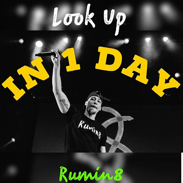 We almost there. 1 day left to #LookUp 🎵I can feel it in my soul, like a sound effect.  Tell me who you are and what you do and make it sound the best.  I never seem to let it go til im out of breath. I never needed you to know, so i let you guess🤷🏽♀️ my bad...i dont remember the last time i slept 🎵 #Rumin8 #Rumin8raps #LookUp #rumin8records #newalbum