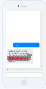 Mock up of the SPY HANDLER chat bot...