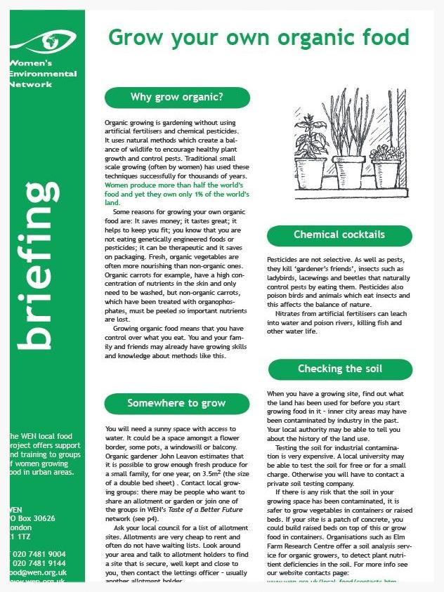 Grow Your Own Organic Food