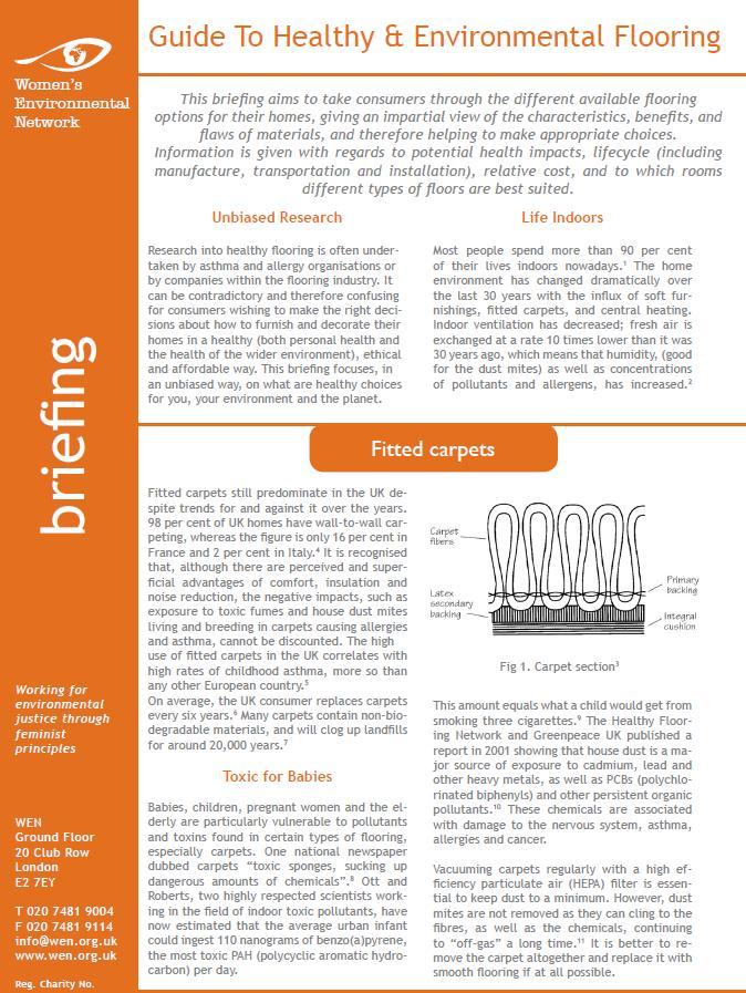 Guide to Healthy & Environmental Flooring