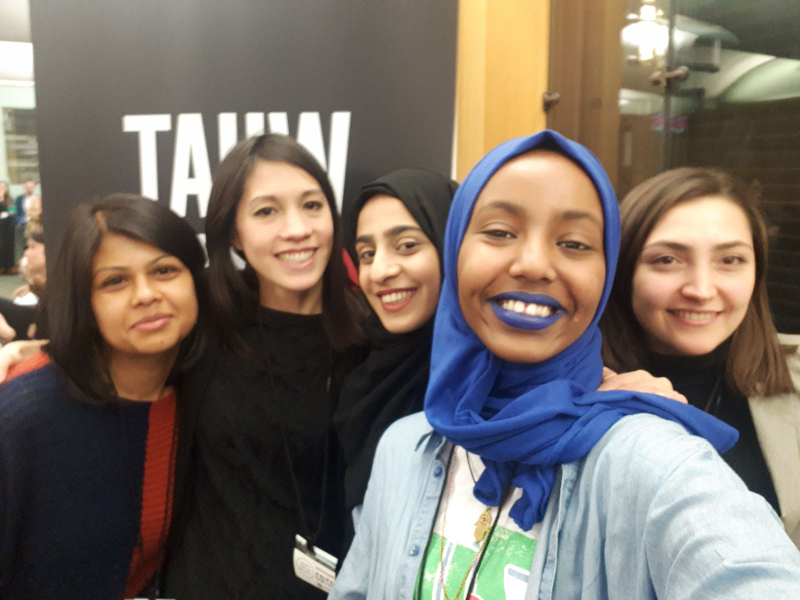 Shaheda (far left) and WEN team at What Women Want 2.0 Launch in Parliament.