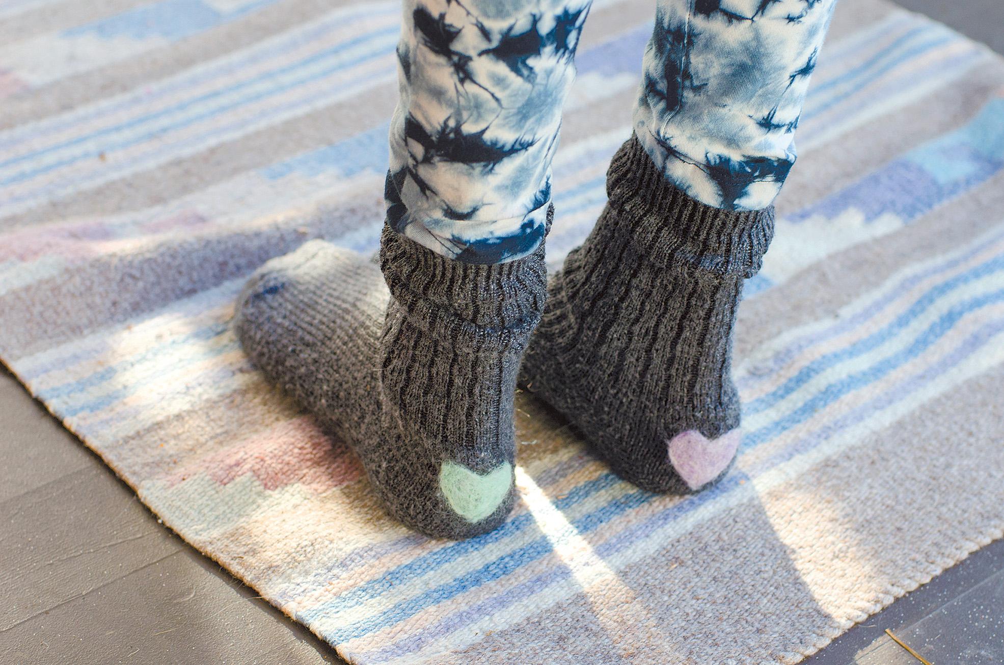 Mended socks