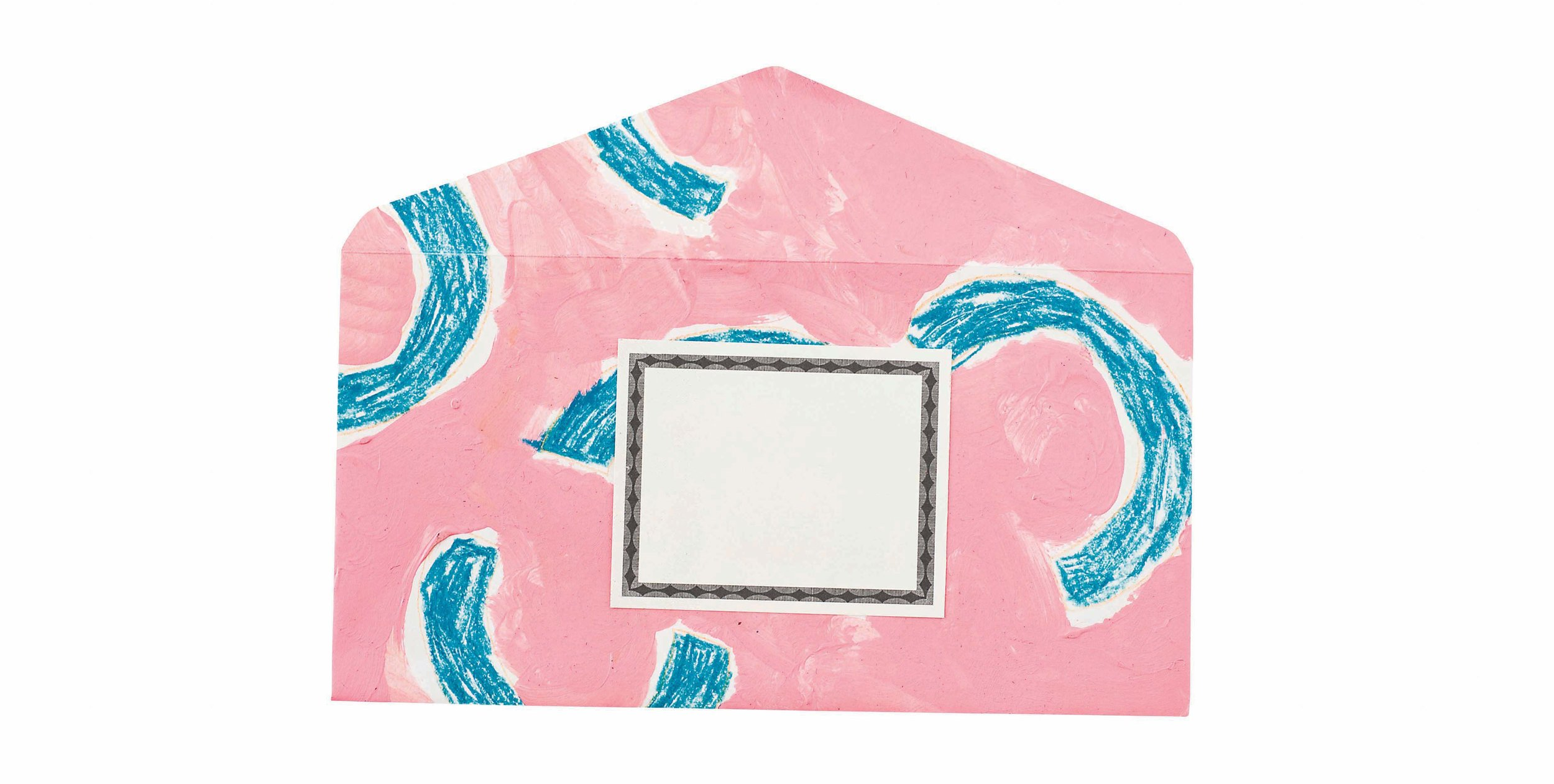Hand-painted envelopes