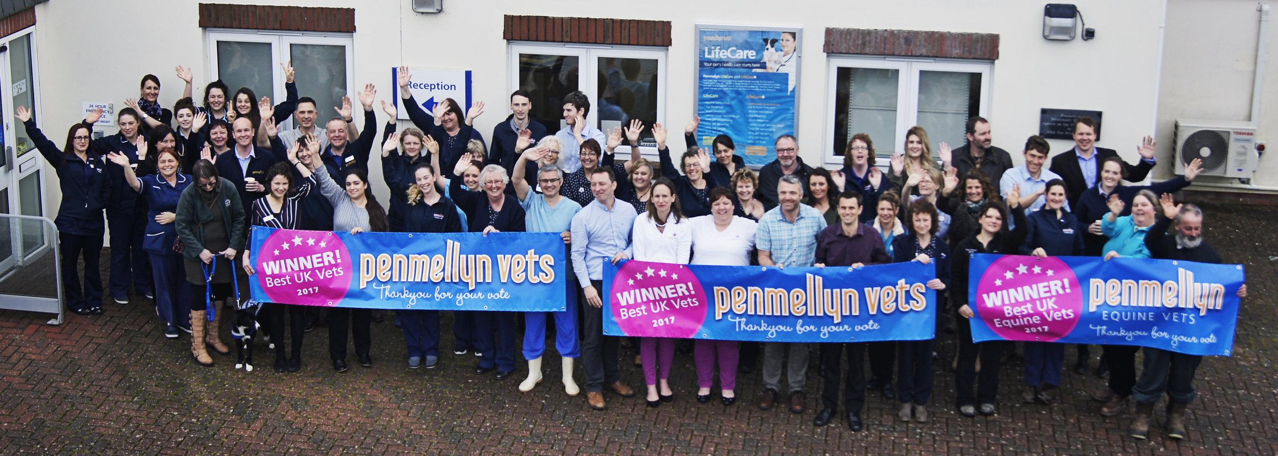 Penmellyn Vets team celebrate their win