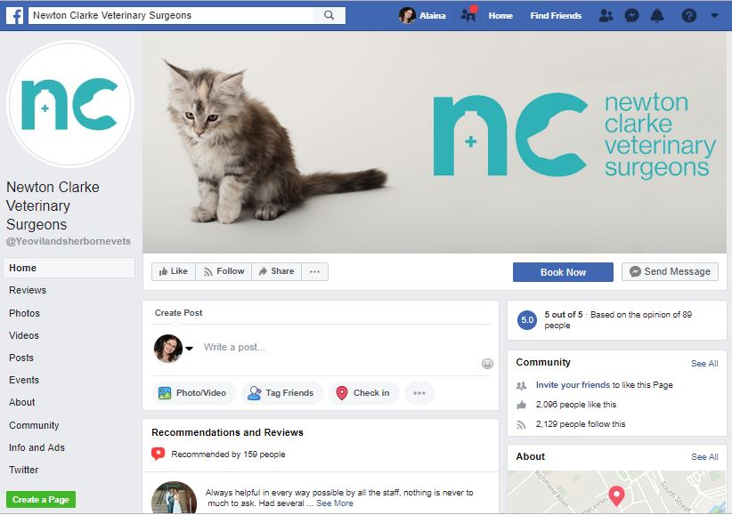 927% increase in 'Engagement' on Facebook in 12 months -
