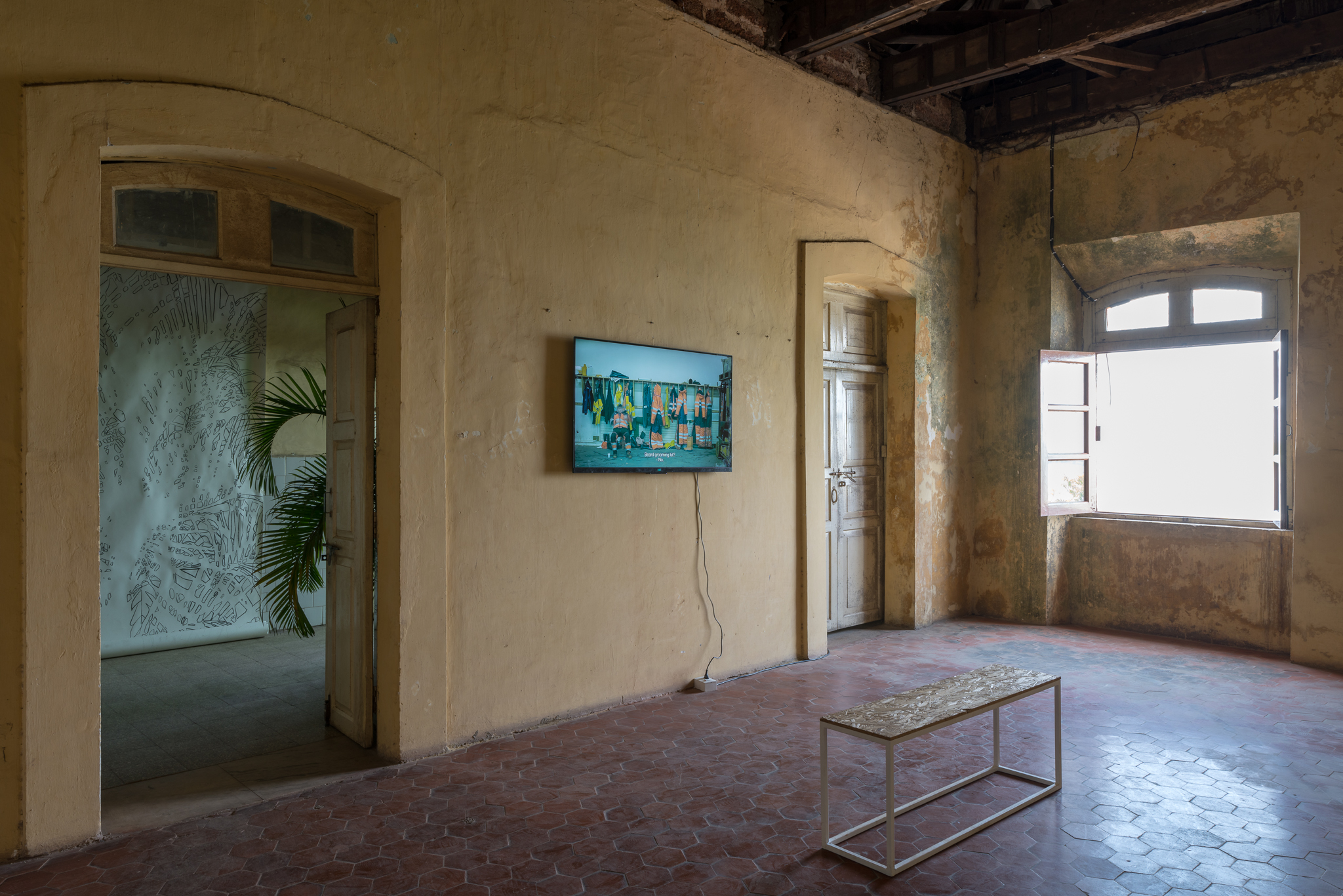 Installation view from ´In Line of Flight´ at Serendipity art festival, Goa, India in 2018.