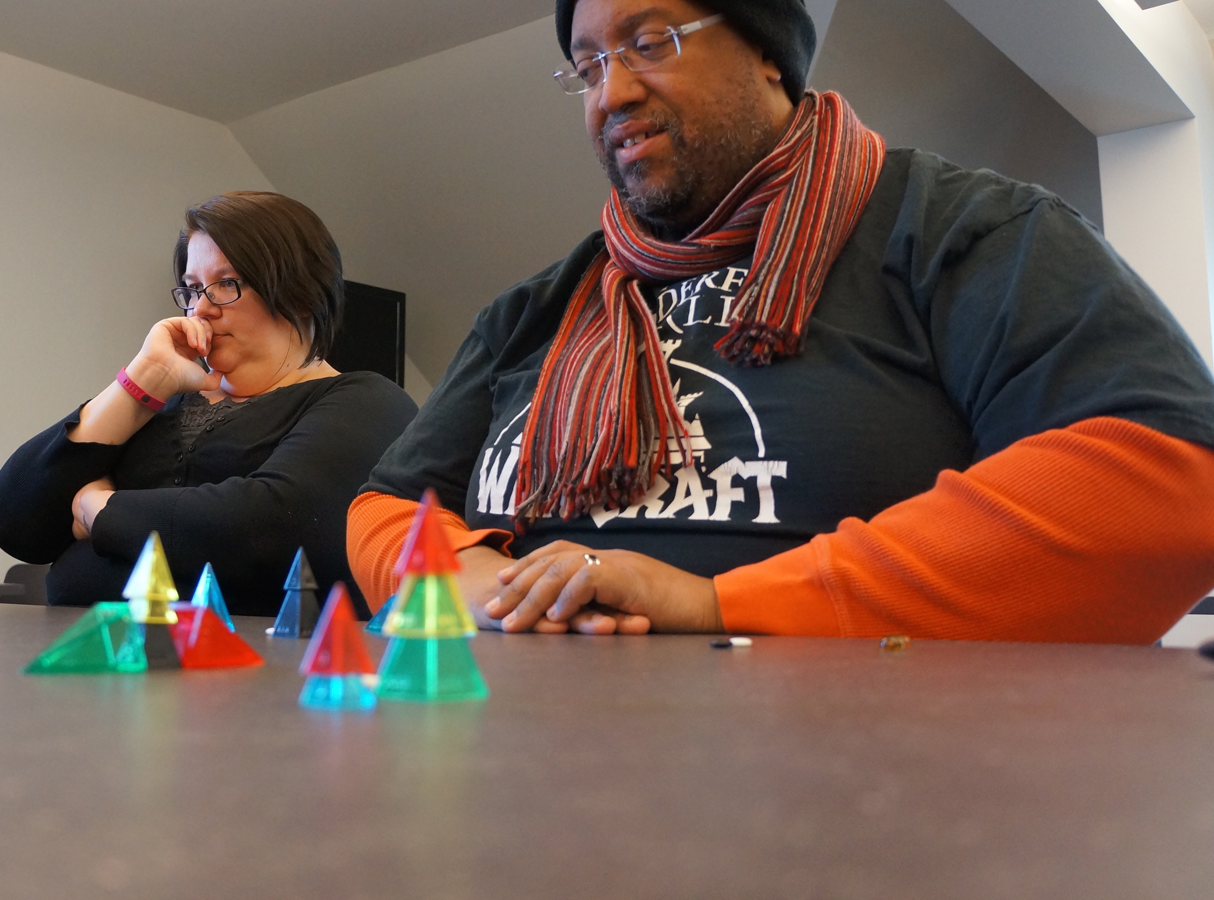 Looney Pyramids , the tool of critical thinking and scientific reasoning in Zendo.