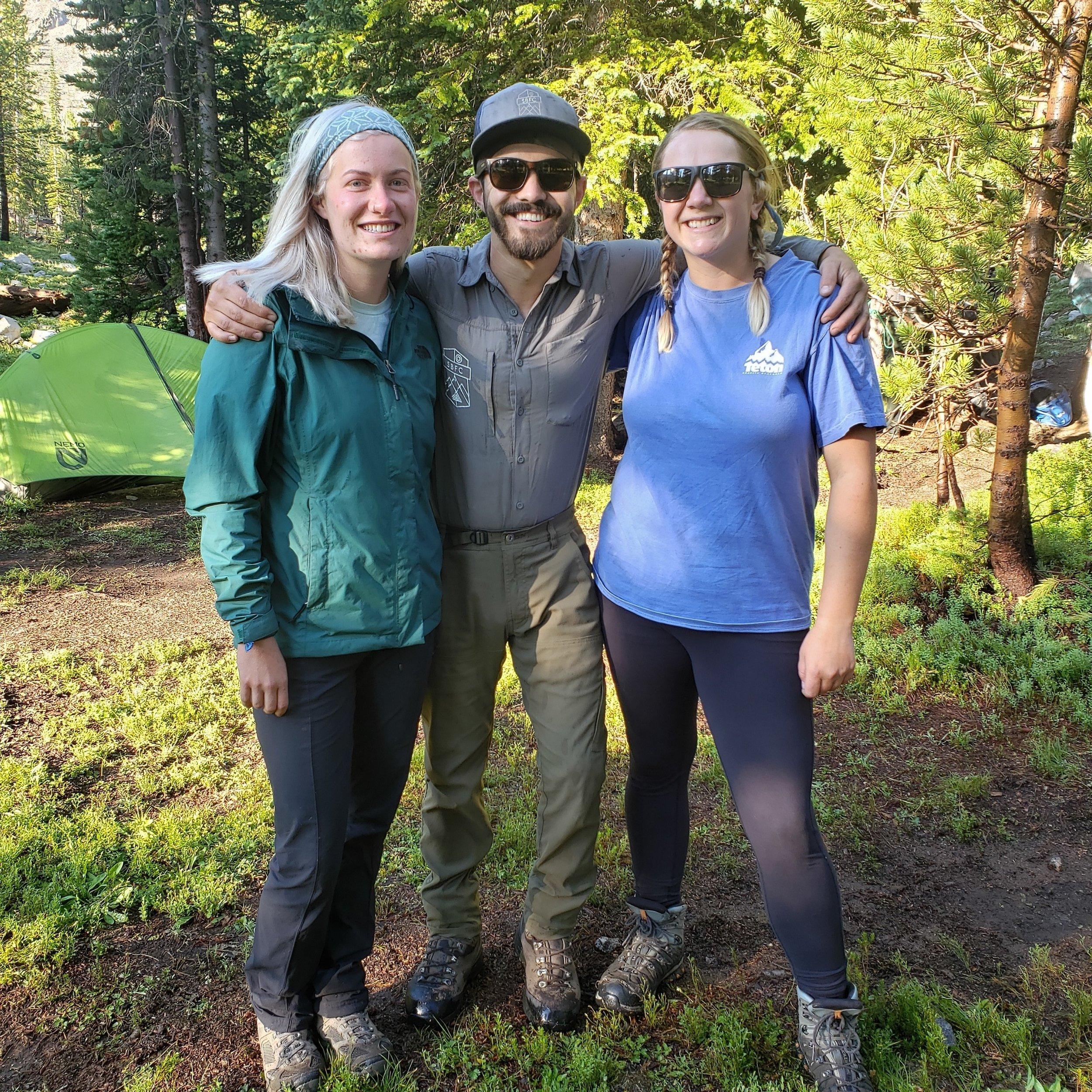L2R - Hannah, Josh Page (SBFC Frank Church Wilderness Steward), Briana (SBFC WR Intern)