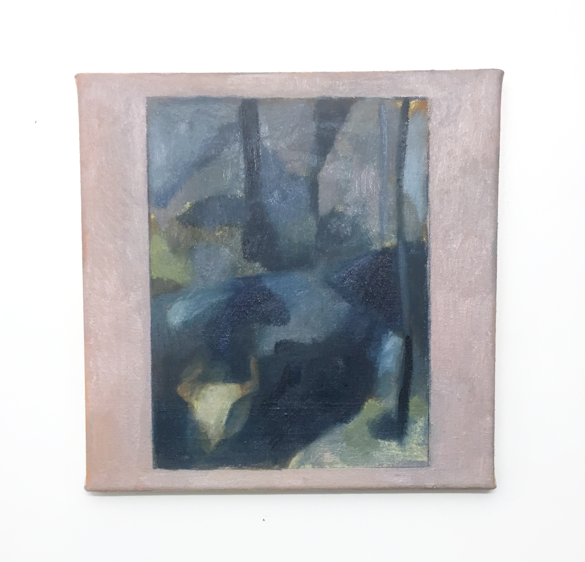 "Bather by a Creek in Timmulshult (Evening)    oil on canvas    12"" x 12""   2019"