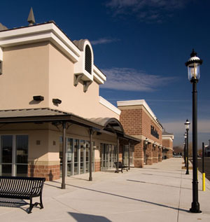 Village at the Bay:  GIS constructed 67 custom built decorative canopy columns as a cost effective alternative to designer columns.  The Village at the Bay was a four building shopping center. A total of 67 custom built decorative canopy columns were fabricated as a cost effective alternate to purchased designer columns proposed by others. A full 857 linear feet of canopies graced the exterior of the buildings.