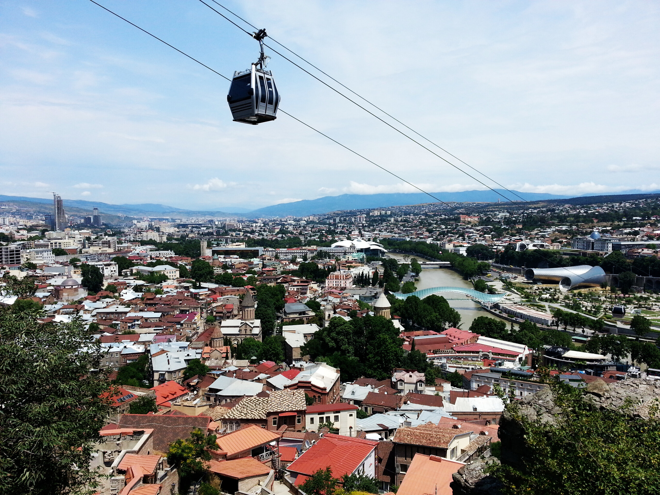 The cable car in Tbilisi.  A lovely experience for just 1 GEL.