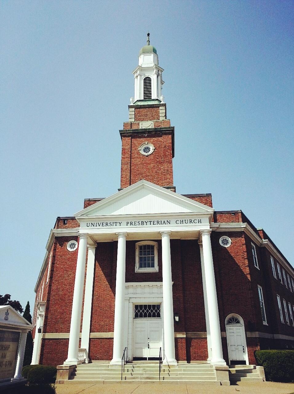University Presbyterian Church.  Just opposite the NFTA Metro Rail stop.