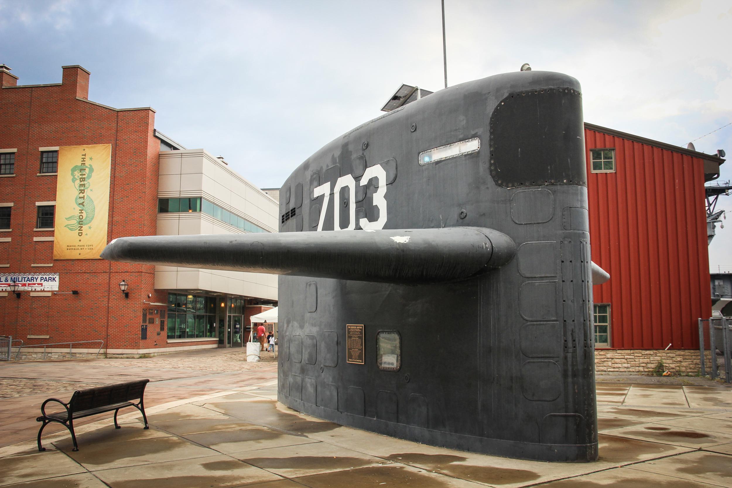 The sail of USS Boston.