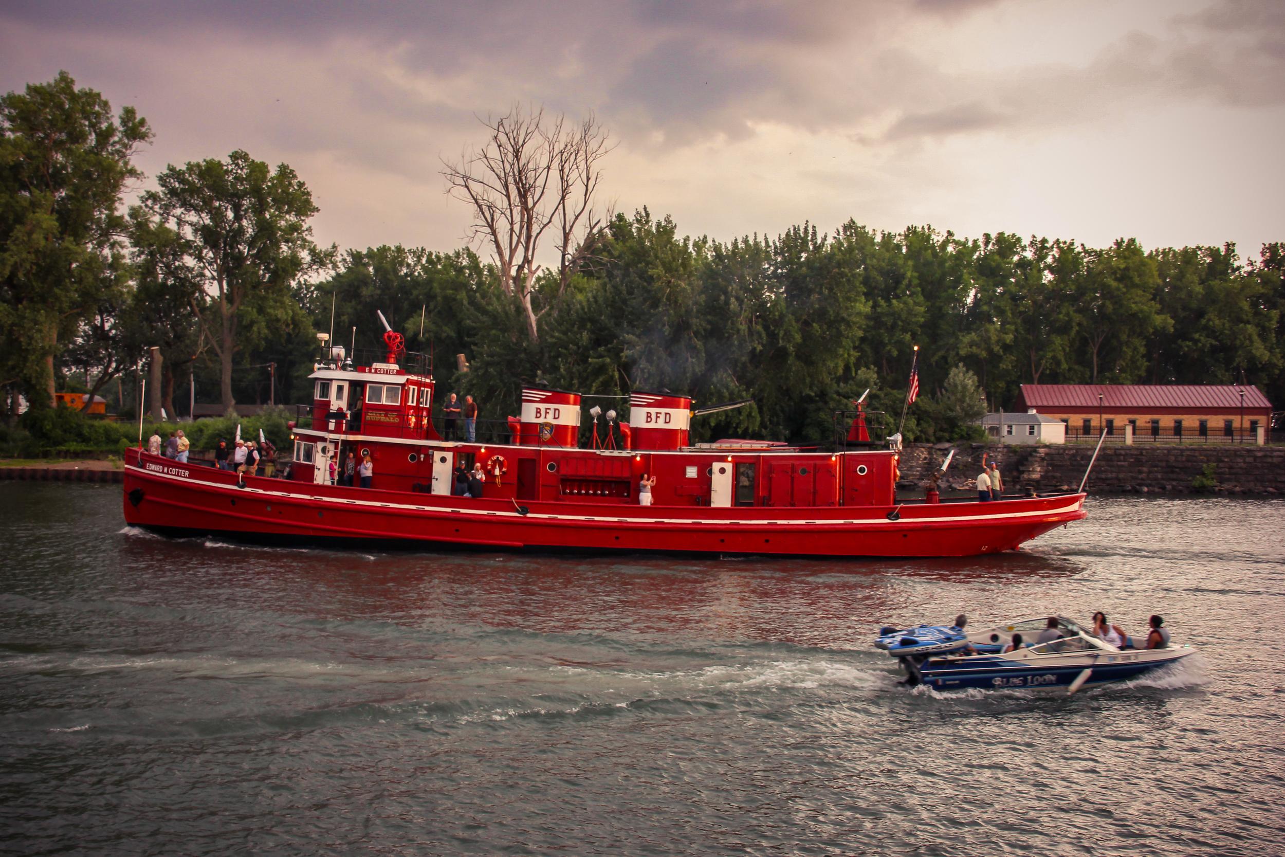 """Edward M. Cotter"".  World's oldest fire-boat."