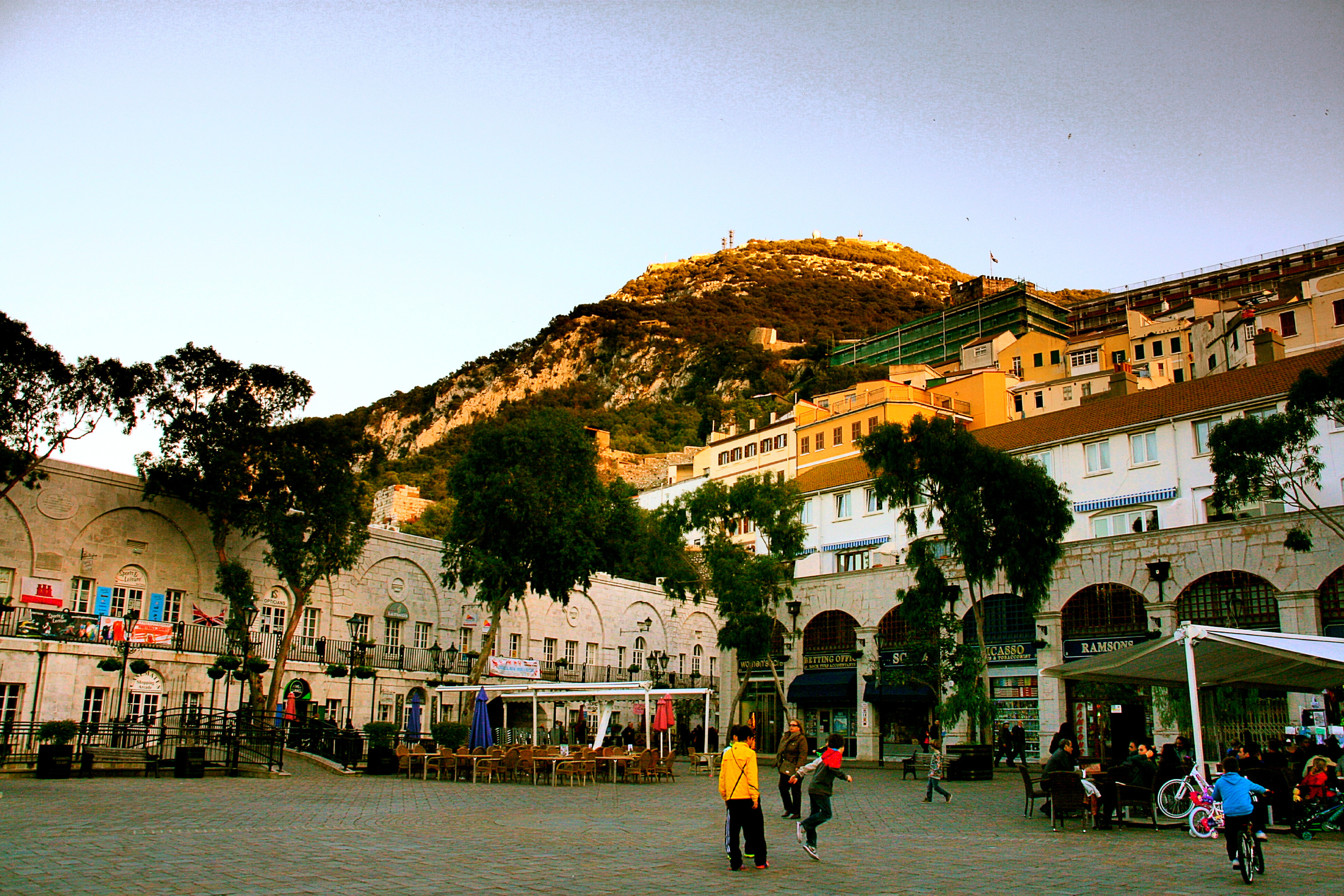 Grand Casemates Square.  Do you see the fortified barracks?