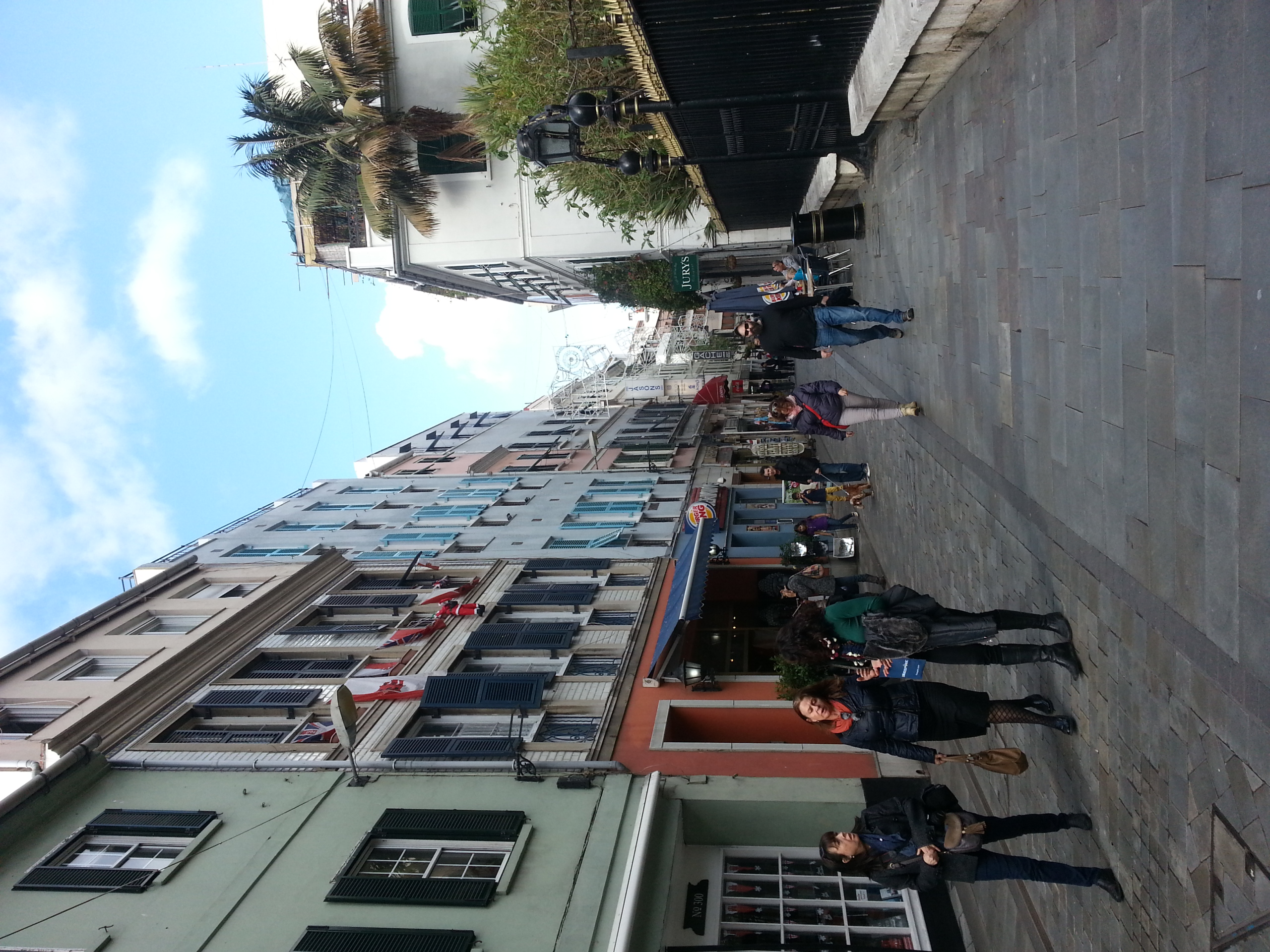 GIbraltar . Main Street offers plenty of lunch possibilities (not only Burger King)...