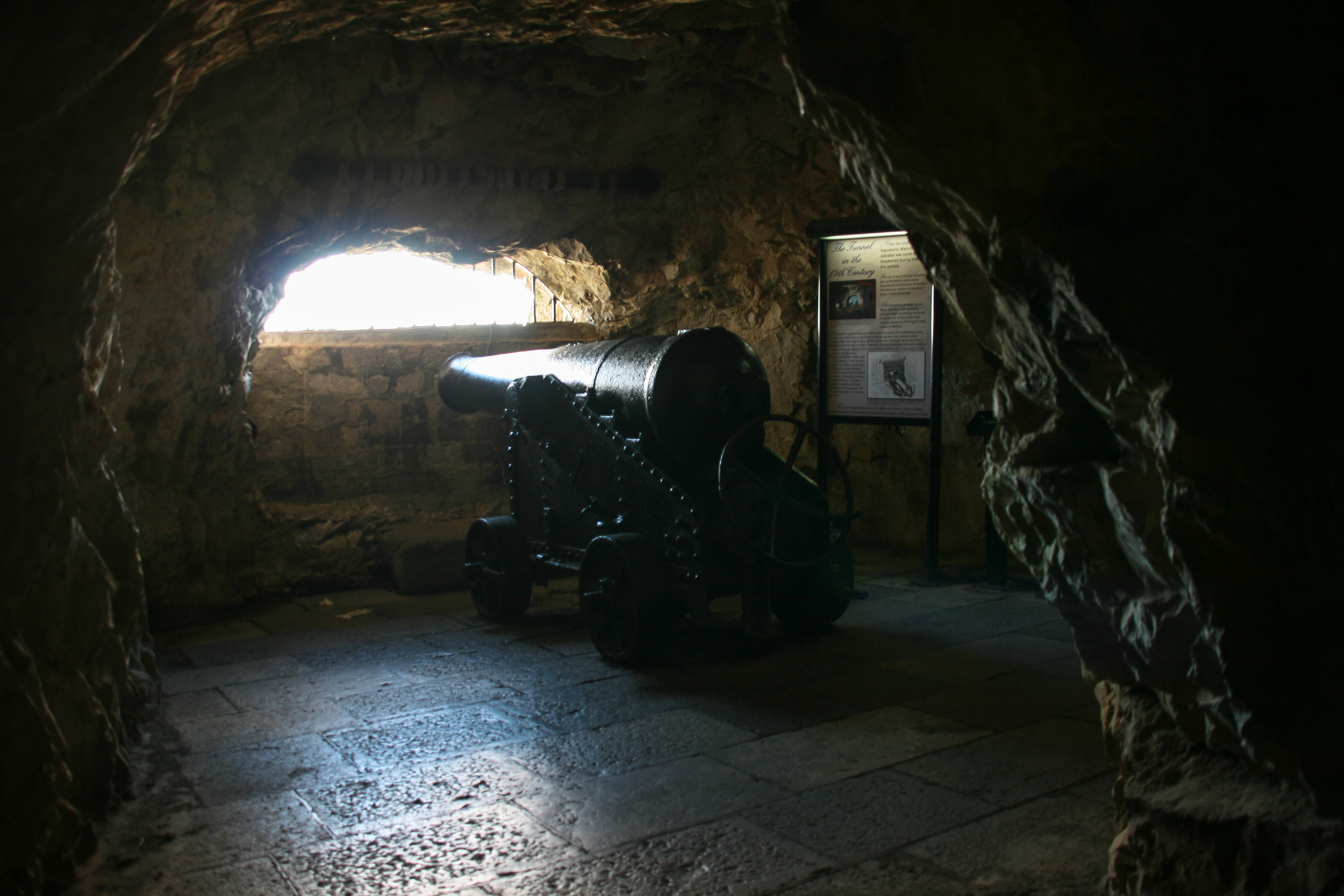 The Great Siege Tunnels.  At some point the ceiling is quite low so basketball players should be aware of that...