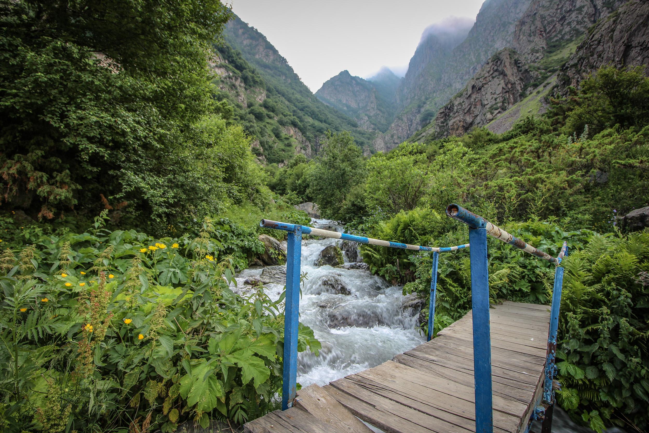 Gveleti . A tiny bridge leading to the beautiful waterfalls...