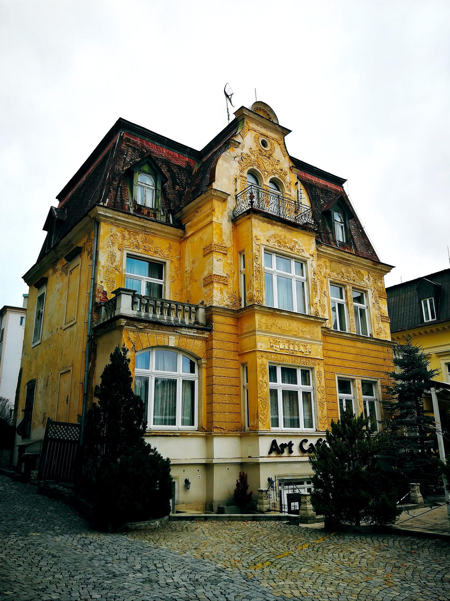 Ancient architecture in Mariánské Lázně, Czech Republic
