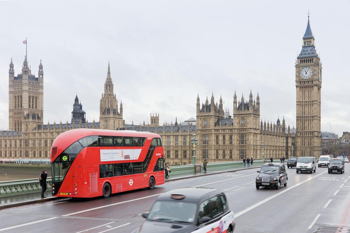 London Bus:First new bus commission for the city of London in 50 years. More fuel efficient, better lighting, strategically placed windows.