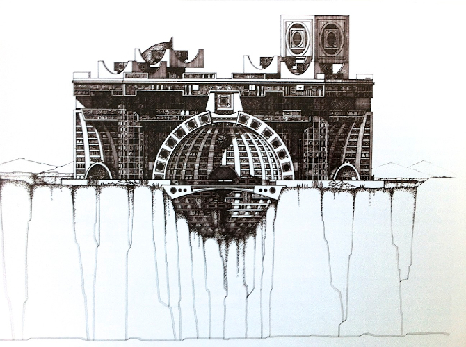 Arcology Conceptual Drawing