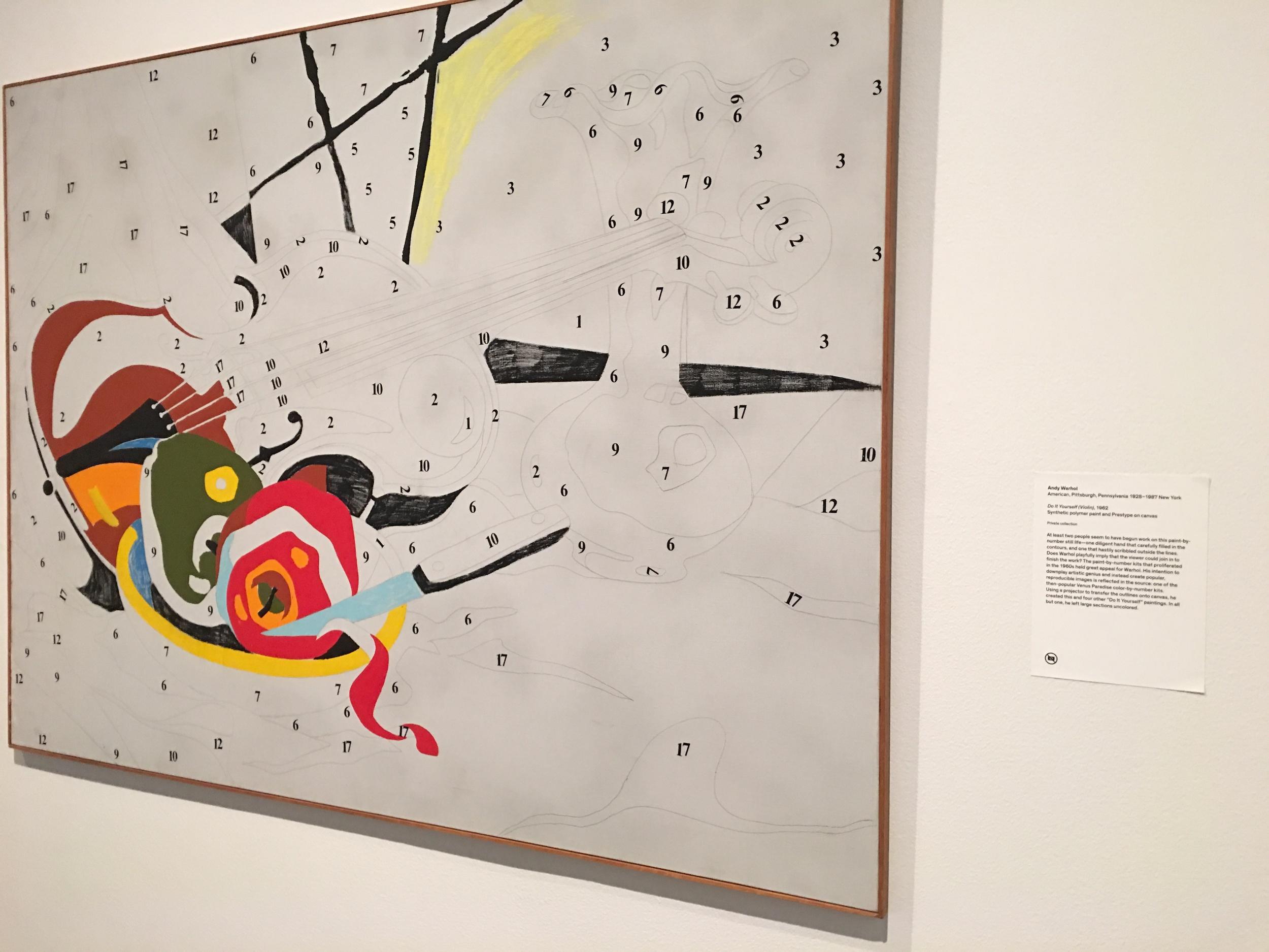 Andy Warhol, Do It Yourself, Violin, 1962