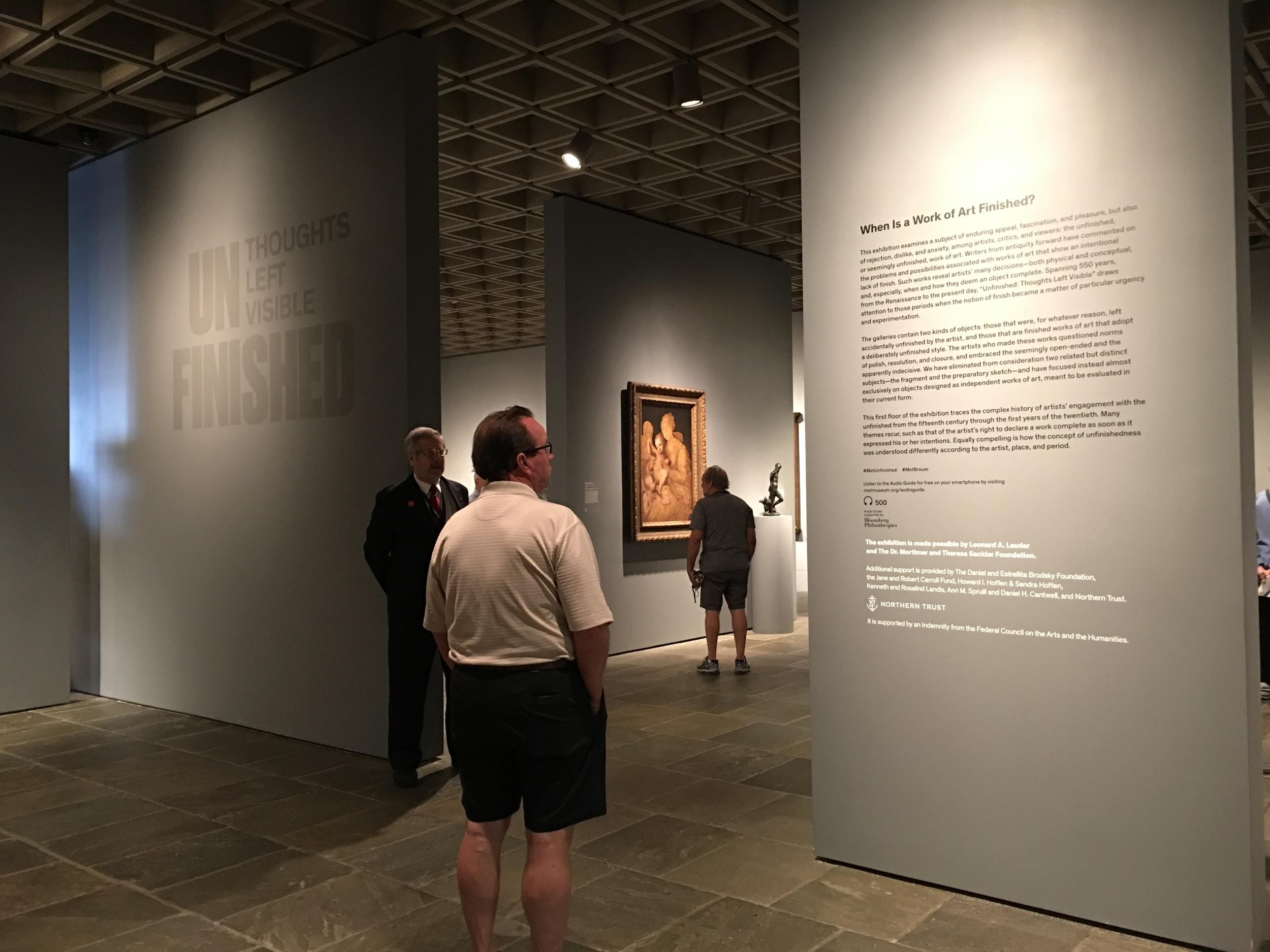 MET Breuer Unfinished Exhibit Entry.JPG