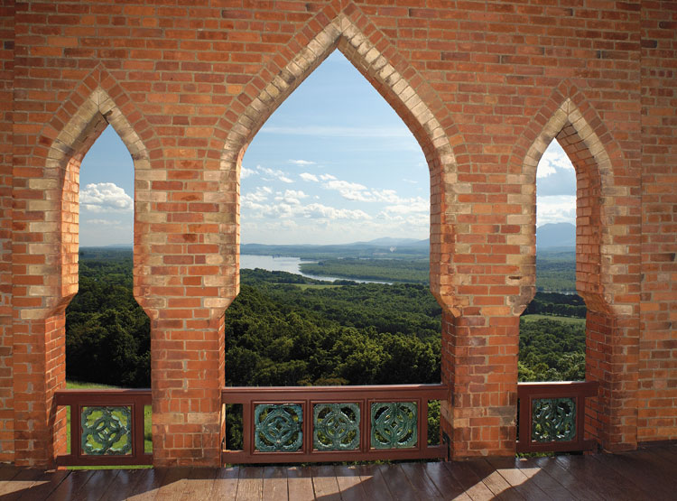Tower view from Olana, Hudson, NY