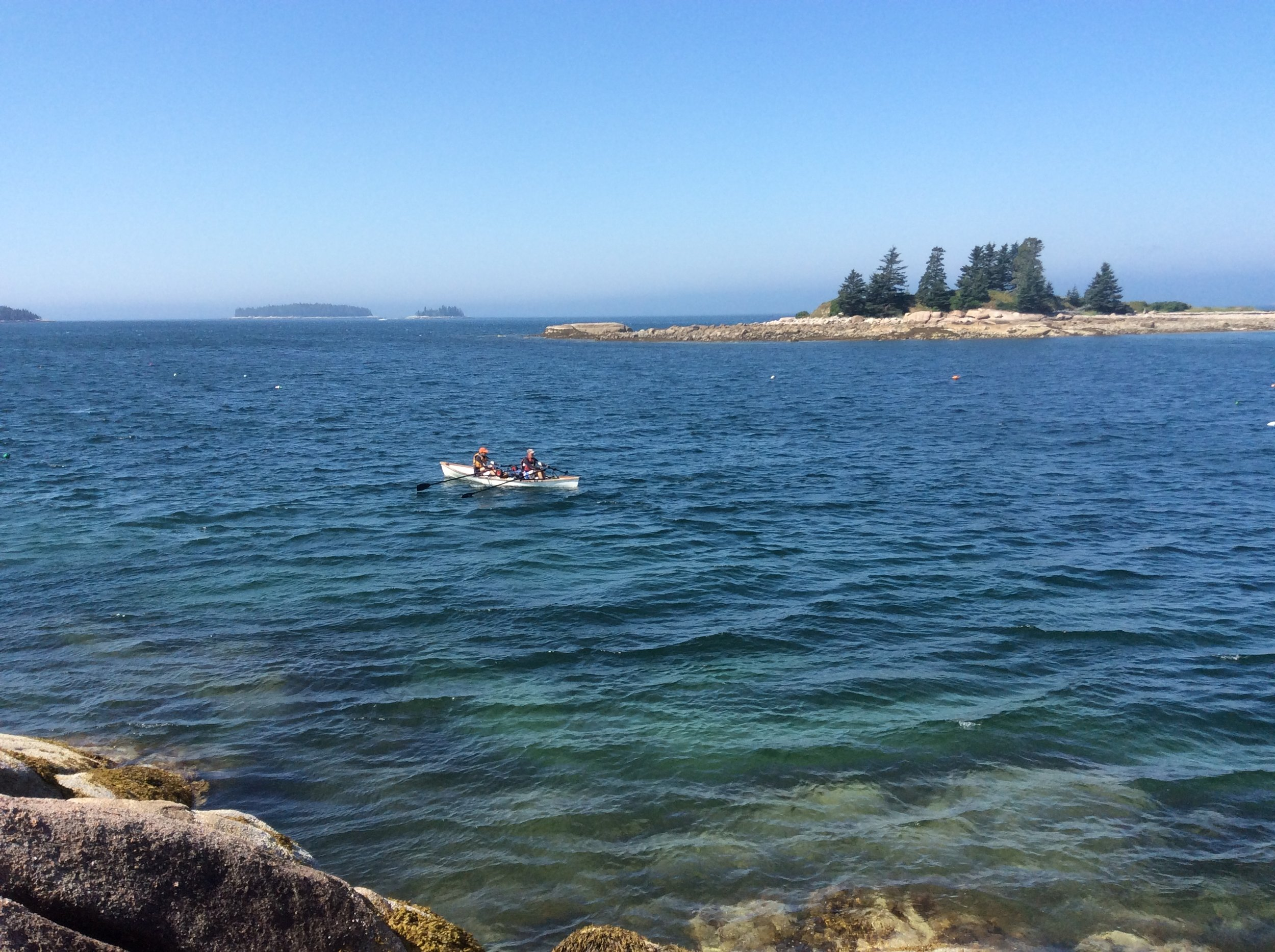 Rowing to Isle au Haut