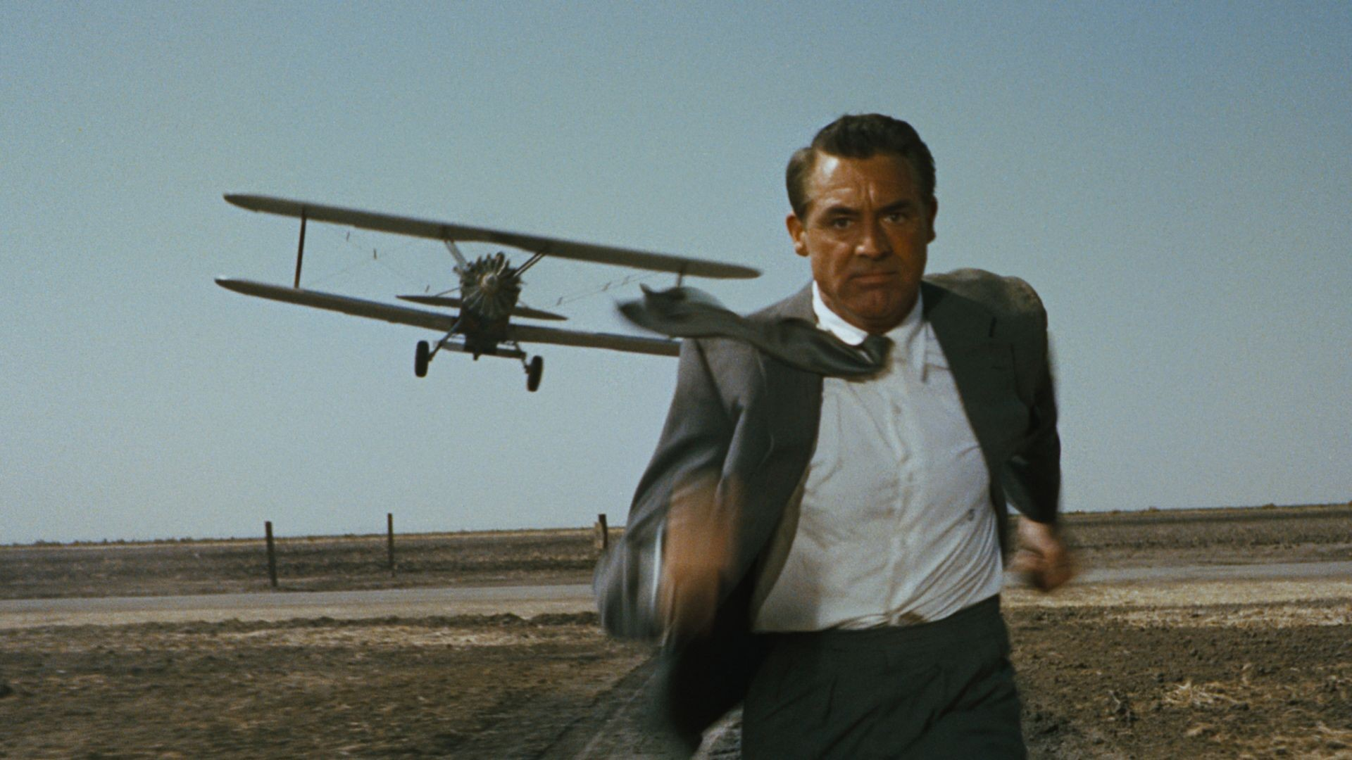 The hero Roger Thornhill (Cary Grant)