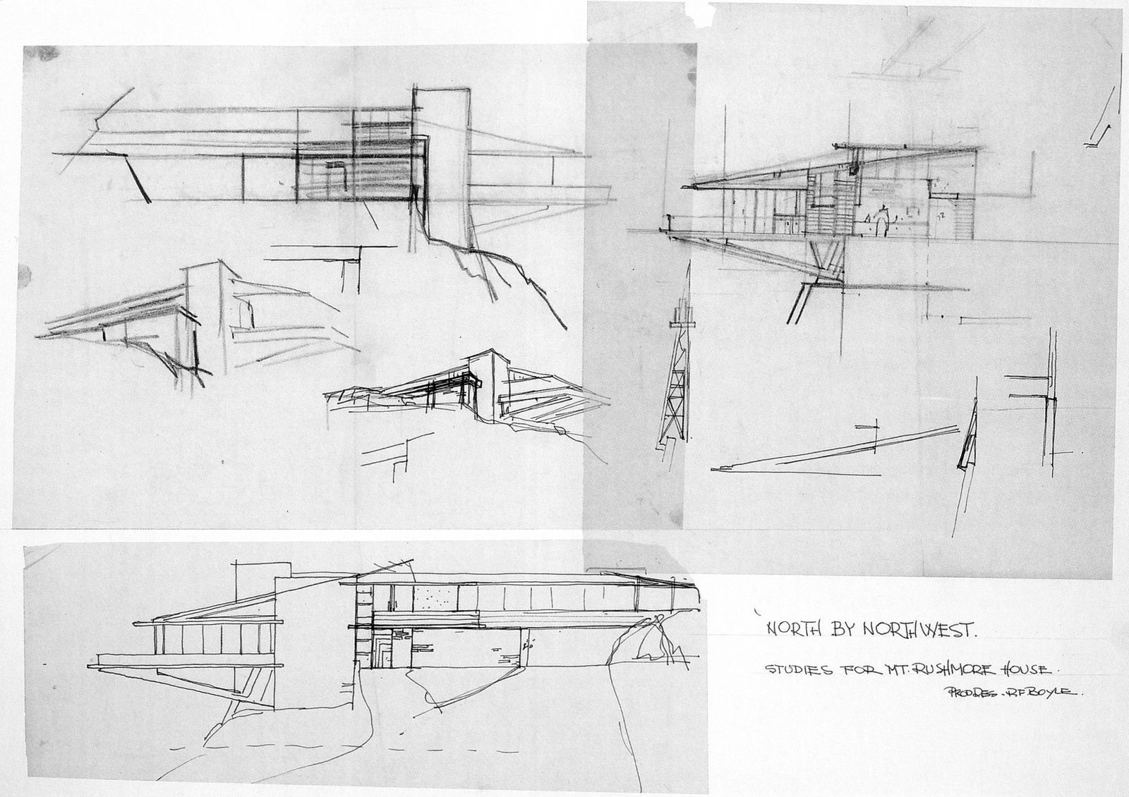 Studies for Mt. Rushmore House