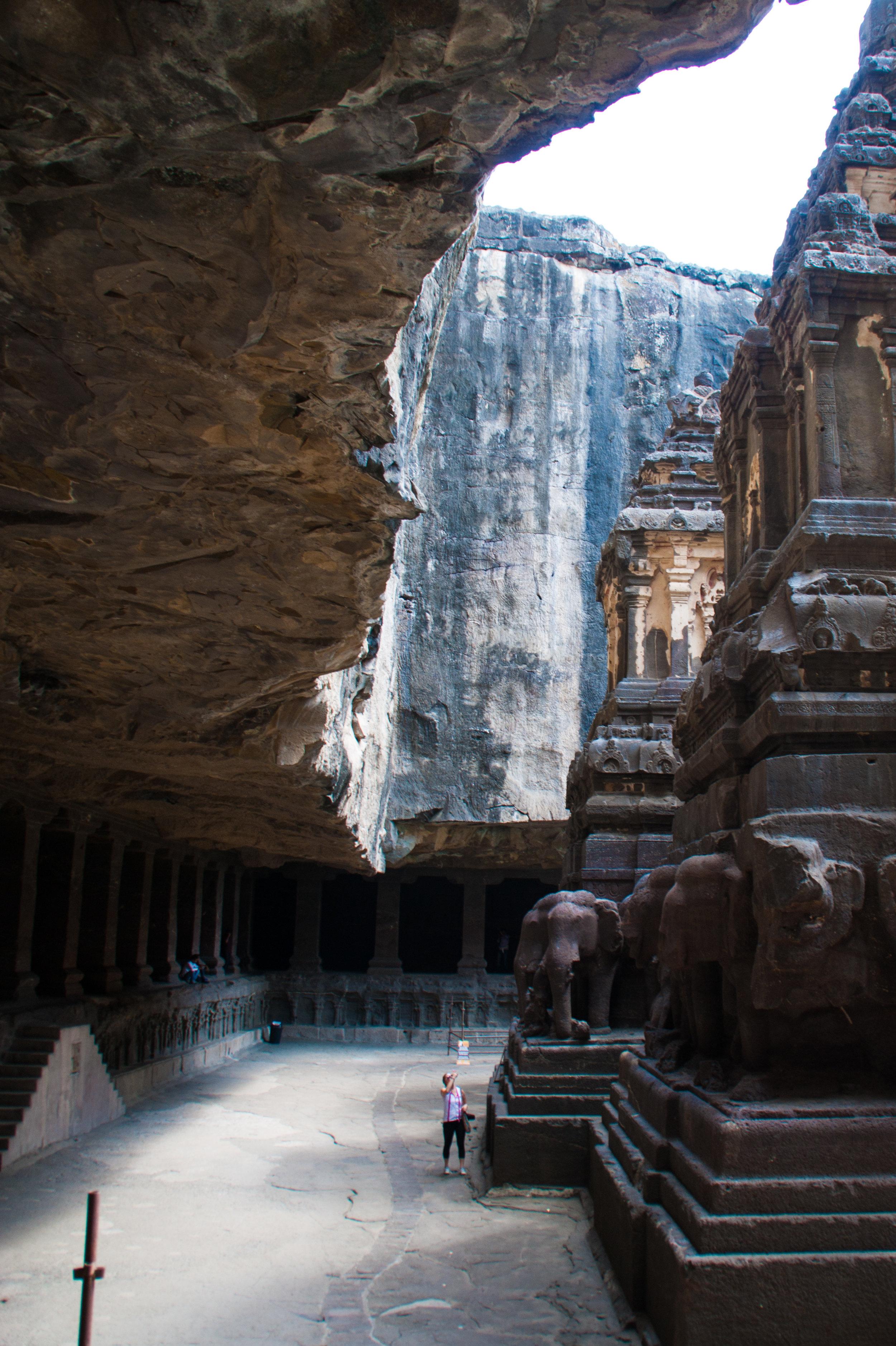 The Ellora Caves in Aurangabad, Maharashtra, India.