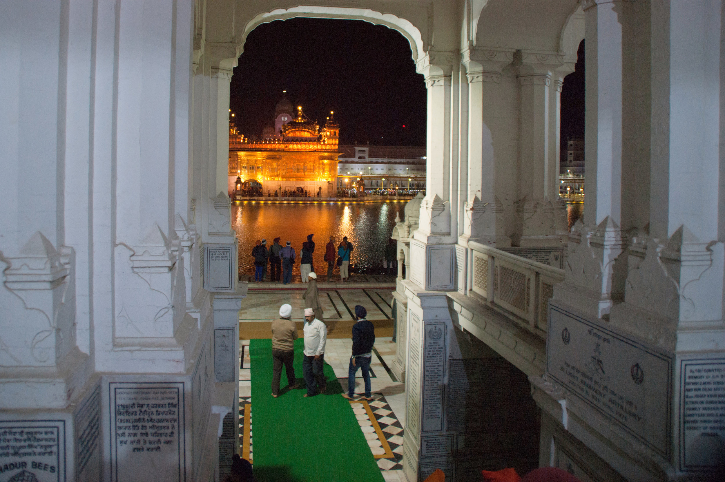 Gateway obstructing part of the Golden Temple in Punjab, India.