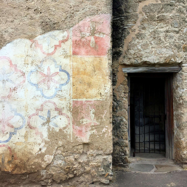 Original fresco that once clad the Mission Concepcion building, 1731