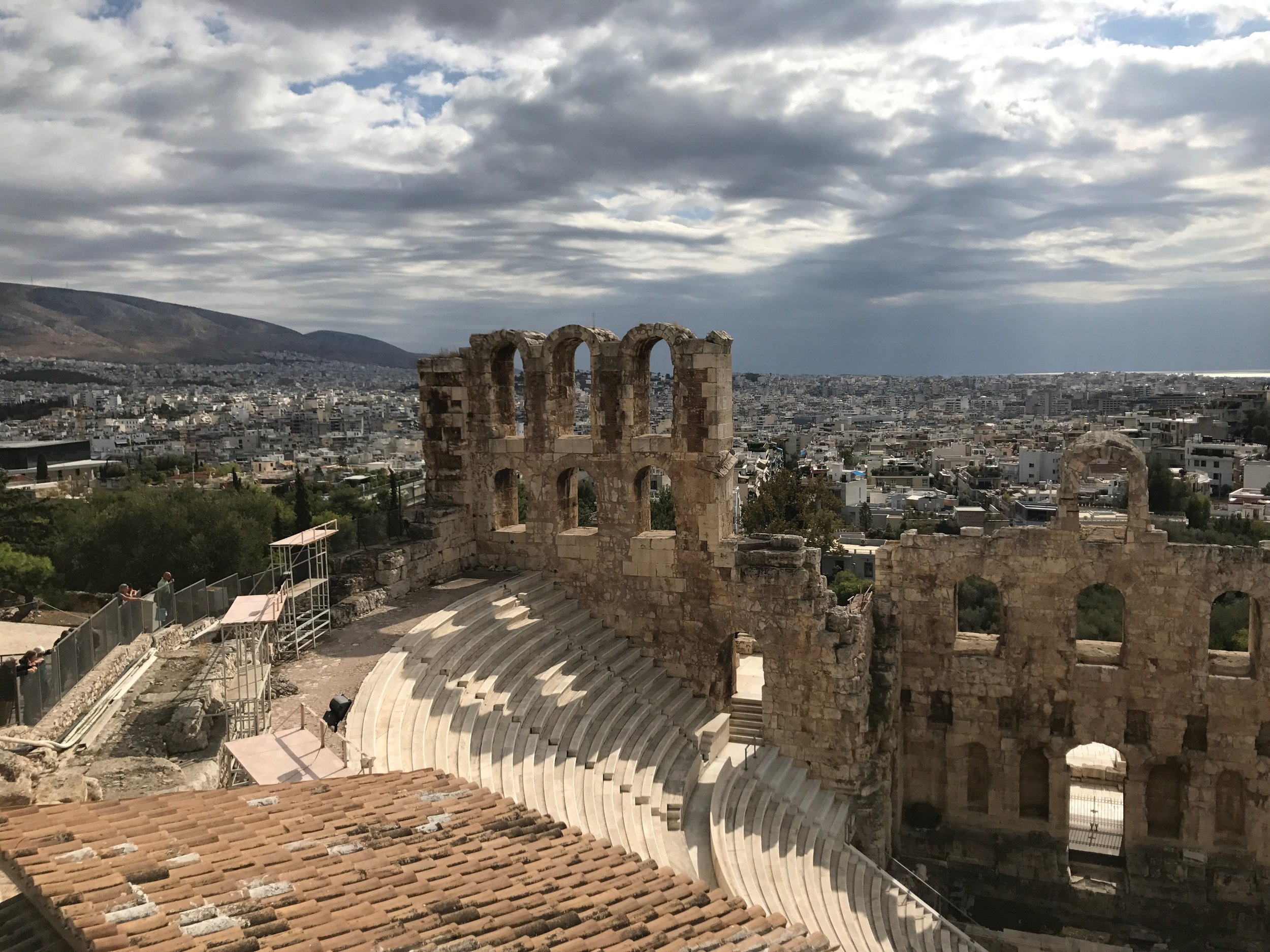 Amphitheater and View of the City