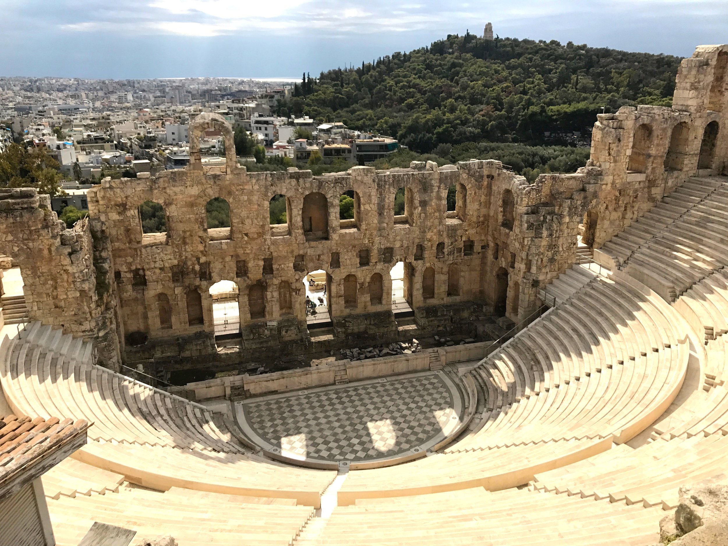 Amphitheater on the Way Up to the Acropolis