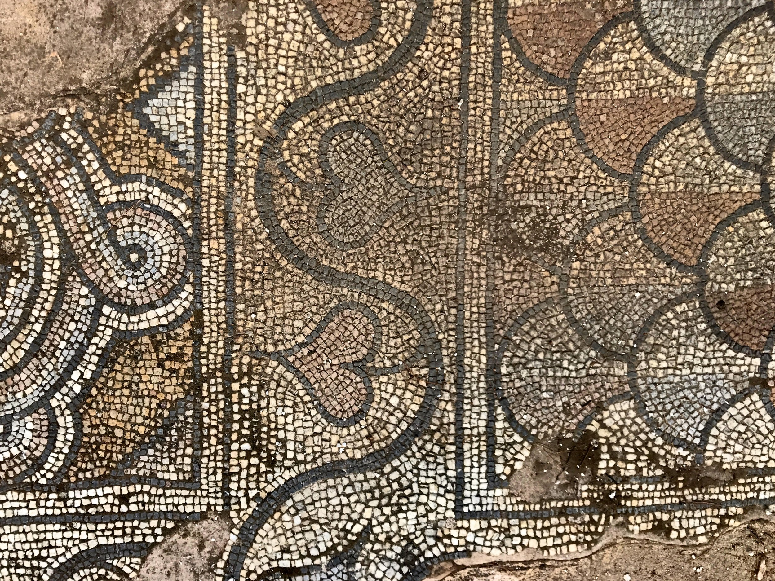 Mosaic Fragments in a Park