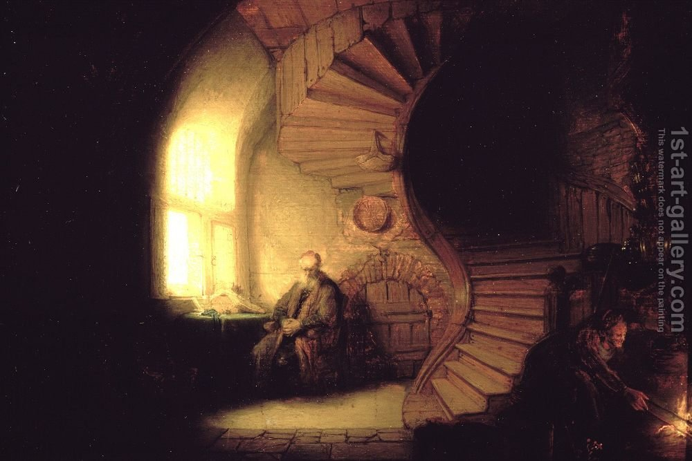 Rembrandt, Philosopher in Meditation 1632