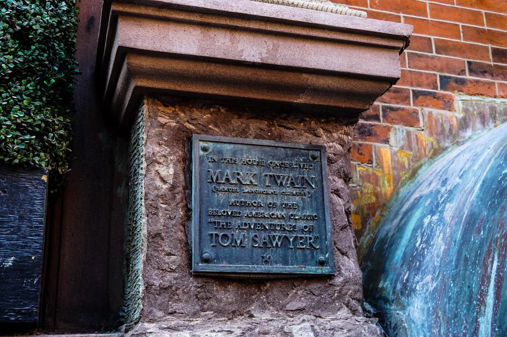 House of Death: Mark Twain Plaque